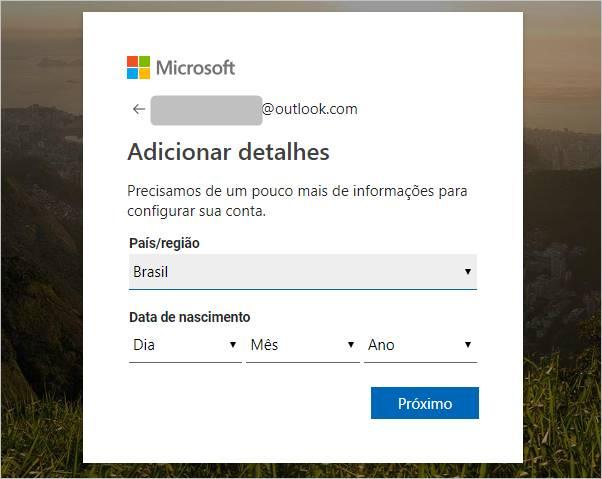 adicionar-detalhes-conta-msn