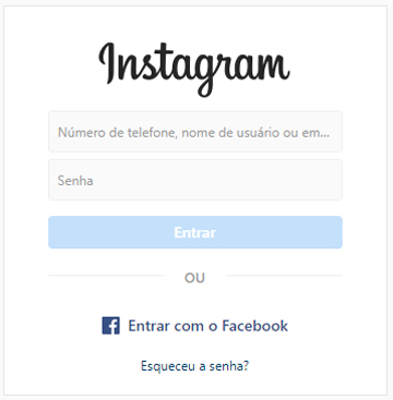 como entrar no instagram