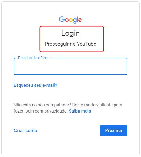 login-youtube