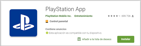 login play station app
