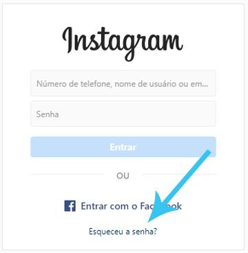 recuperar senha do instagram